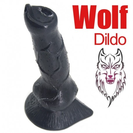 Realistic Wolf Dog Dildo (Black)